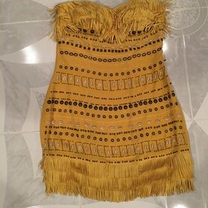 Leather Fringe & Sea Shell Dress